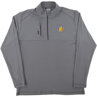 Memphis Grizzlies Adidas Gray Climalte Performance 1/4 Zip Pullover