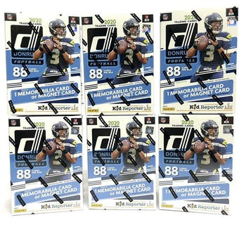 2020 Panini Donruss Football 11-Pack Blaster Box (Blue) (Lot of 6)