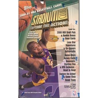 2000/01 Topps Stadium Club Basketball Jumbo Box