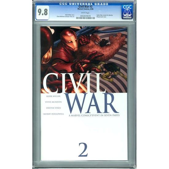 Civil War #2 CGC 9.8 (W) *0002878078*