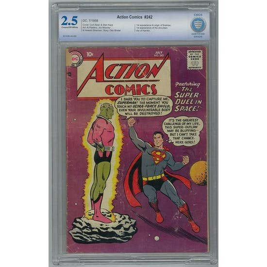 Action Comics #242 CBCS 2.5 (C-OW) *0014390-AA-002*