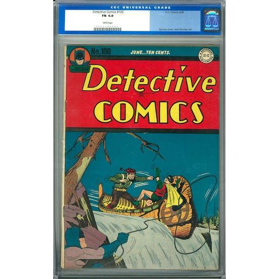 Detective Comics #100 CGC 6.0 (W) *0023708004*