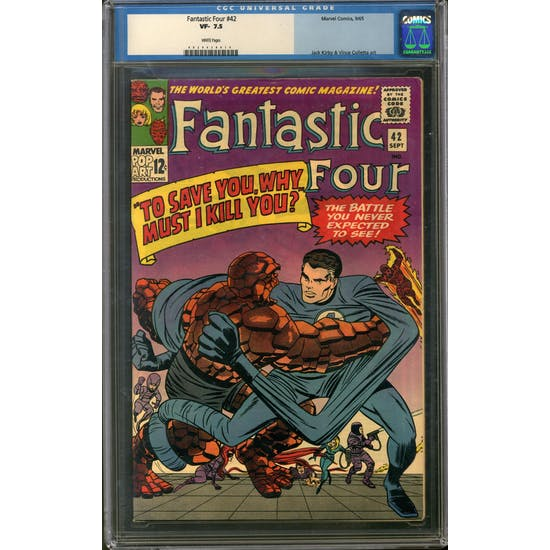Fantastic Four #42 CGC 7.5 (W) *0029438014*
