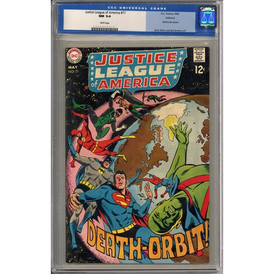 Justice League of America #71 CGC 9.4 Oakland Pedigree (W) *0040046010*