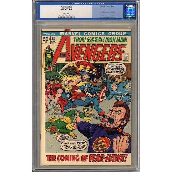 Avengers #98 CGC 9.8 (W) *0052379002*