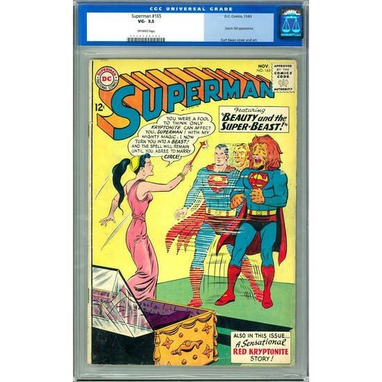 Superman #165 CGC 3.5 (OW) *0059984002*