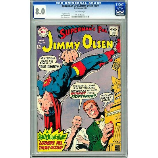 Superman's Pal Jimmy Olsen #109 CGC 8.0 (OW) *0078163007*