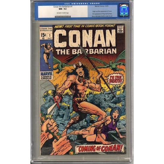 Conan the Barbarian #1 CGC 9.2 (OW-W) *0078632001*