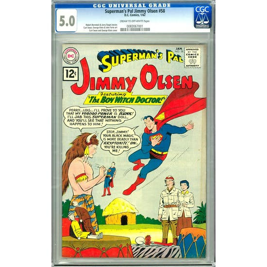 Superman's Pal Jimmy Olsen #58 CGC 5.0 (C-OW) *0083067001*