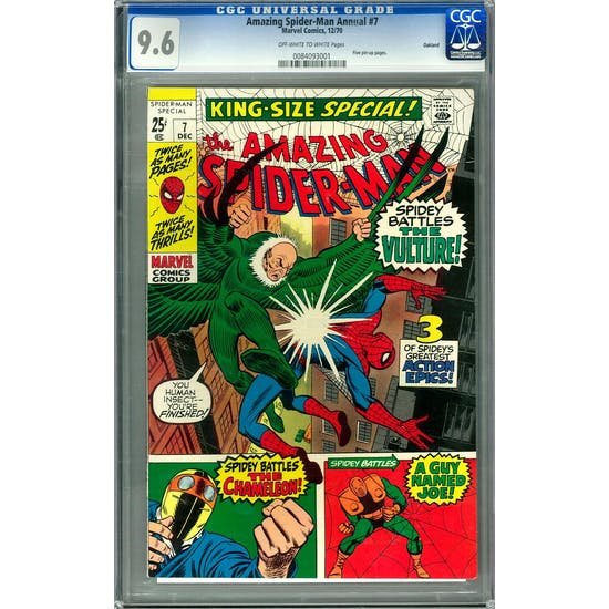 Amazing Spider-Man Annual #7 CGC 9.6 Oakland Pedigree (OW-W) *0084093001*