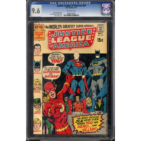 Justice League of America #89 CGC 9.6 (OW) *0097919001*