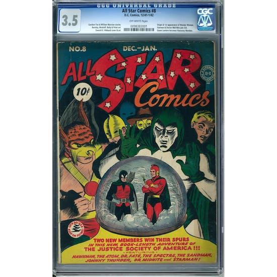 All Star Comics #8 CGC 3.5 (OW) *0098383001*