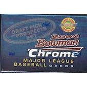 2000 Bowman Chrome Draft Picks Baseball Factory Set (Box)