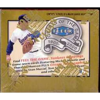 2000 Fleer Greats Of The Game Baseball Hobby Box
