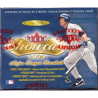 2000 Fleer Showcase Baseball Hobby Box