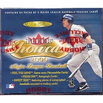 2000 Fleer Showcase Baseball Hobby Box