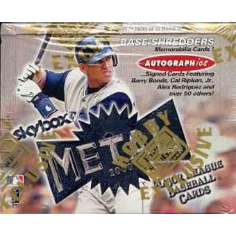 2000 Fleer Skybox Metal Baseball Hobby Box