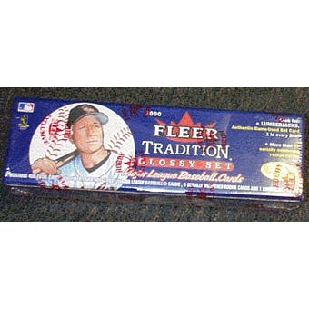 2000 Fleer Tradition Glossy Baseball Factory Set (Box)
