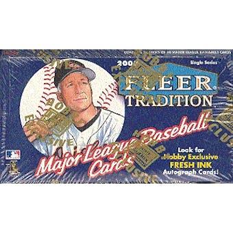 2000 Fleer Tradition Baseball Hobby Box