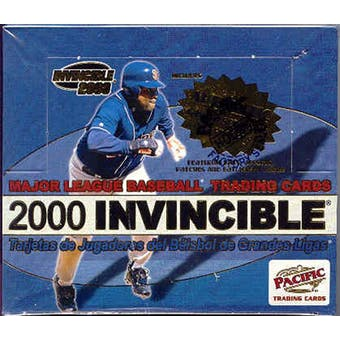 2000 Pacific Invincible Baseball Hobby Box