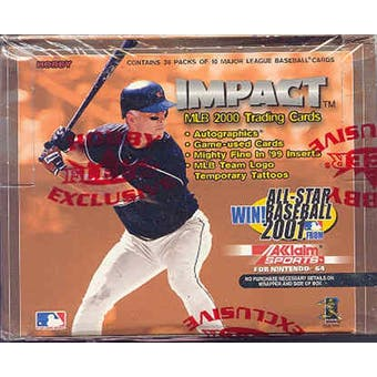 2000 Fleer Skybox Impact Baseball Hobby Box