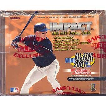 2000 Fleer Skybox Impact Baseball Hobby Box