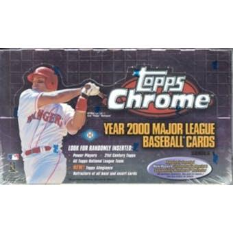 2000 Topps Chrome Series 1 Baseball Hobby Box (Reed Buy)