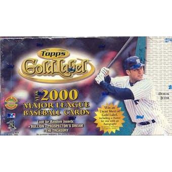 2000 Topps Gold Label Baseball Hobby Box