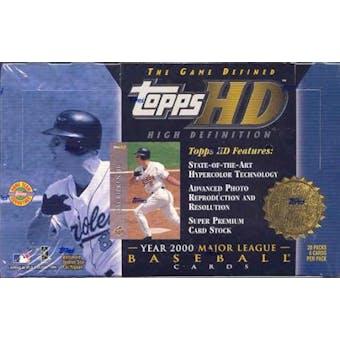 2000 Topps HD High Definition Baseball Hobby Box