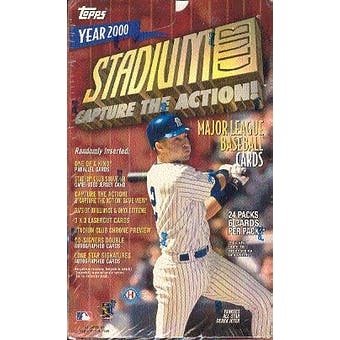 2000 Topps Stadium Club Baseball Hobby Box