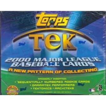 2000 Topps Tek Baseball Hobby Box