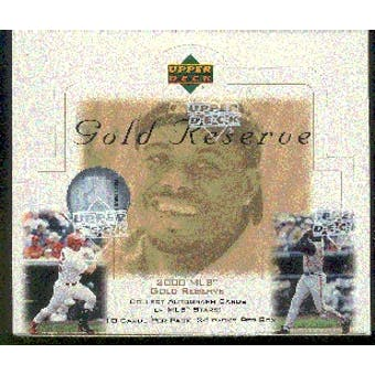 2000 Upper Deck Gold Reserve Baseball Box