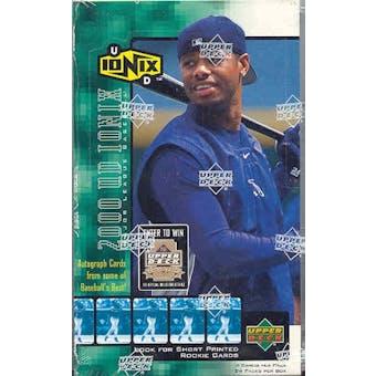 2000 Upper Deck Ionix Baseball Hobby Box (Reed Buy)