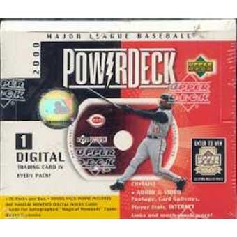 2000 Upper Deck Power Deck Baseball Hobby Box