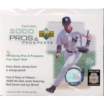 2000 Upper Deck Pros & Prospects Baseball Hobby Box