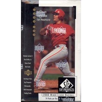 2000 Upper Deck SP Top Prospects Baseball Hobby Box