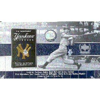 2000 Upper Deck Yankees Legends Baseball Hobby Box