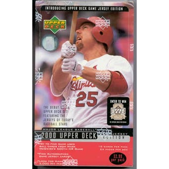 2000 Upper Deck Series 2 Baseball Retail 24 Pack Box