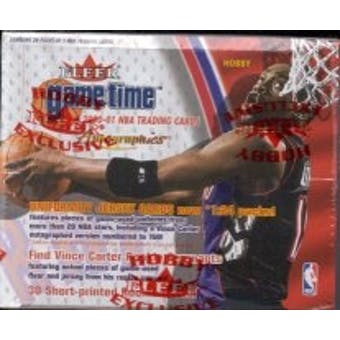 2000/01 Fleer Game Time Basketball Hobby Box