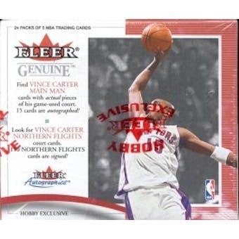 2000/01 Fleer Genuine Basketball Hobby Box