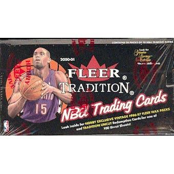 2000/01 Fleer Tradition Basketball Hobby Box