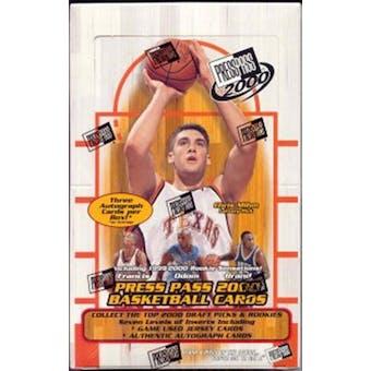 2000/01 Press Pass Basketball Hobby Box