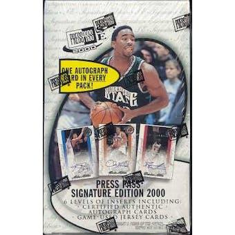 2000/01 Press Pass Signature Basketball Hobby Box