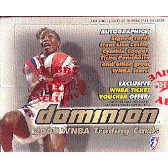 2000 Skybox Dominion WNBA Basketball Hobby Box