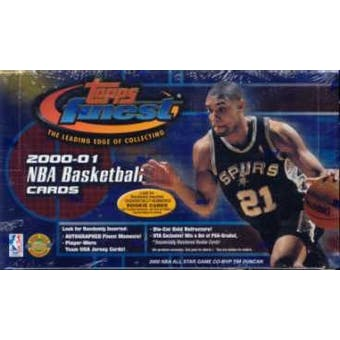 2000/01 Topps Finest Basketball Jumbo Box