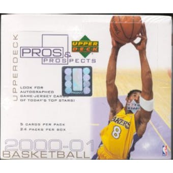 2000/01 Upper Deck Pros & Prospects Basketball Hobby Box