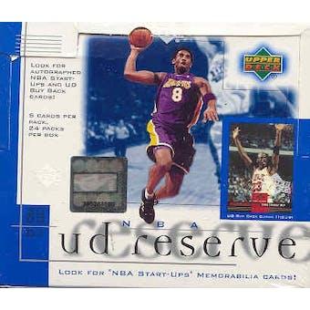 2000/01 Upper Deck Reserve Basketball Hobby Box