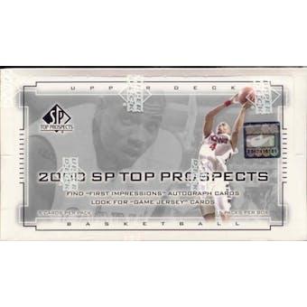 2000/01 Upper Deck SP Top Prospects Basketball Hobby Box