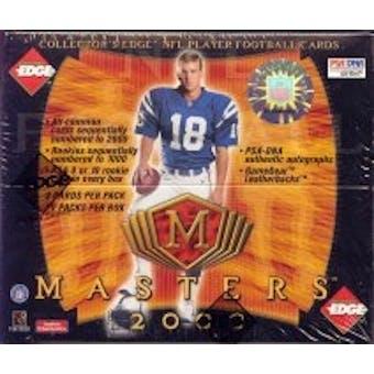 2000 Collector's Edge Masters Football Hobby Box