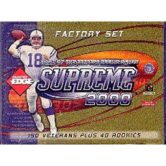 2000 Collector's Edge Supreme Football Factory Set